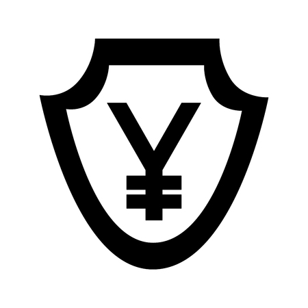 currency such as shield yen symbol foreign exchange vector illustration Stock Illustratie