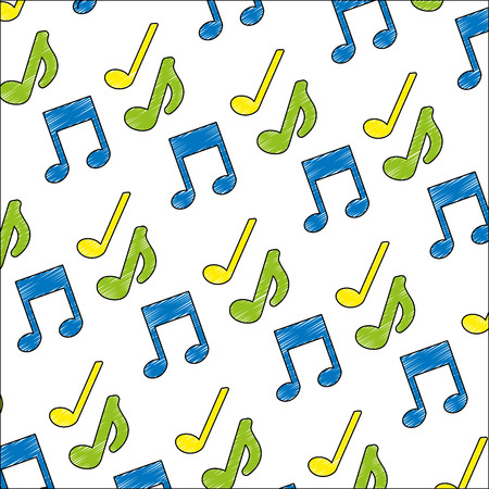 music note icon pattern vector illustration design Ilustração