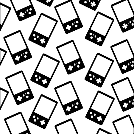 video game portable pattern vector illustration design Illustration