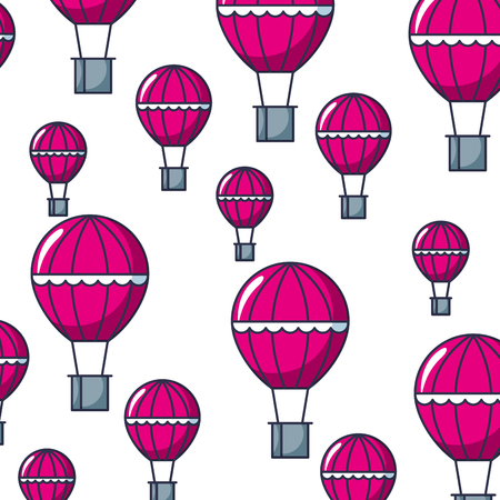 balloon air hot flying pattern vector illustration design Banque d'images - 111662886