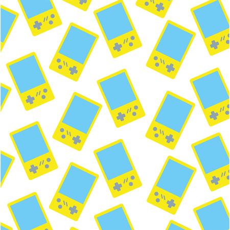 video game portable pattern vector illustration design Illustration