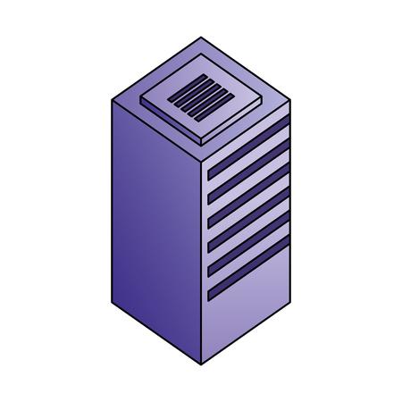database center server storage technology vector illustration Иллюстрация