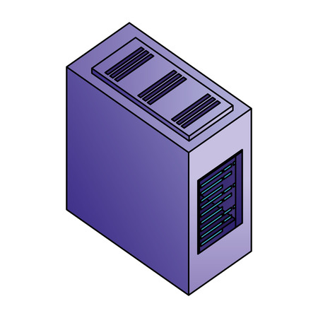 computer server case cpu hardware vector illustration