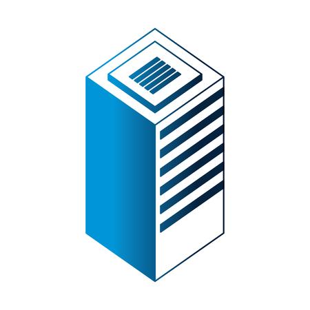 server data center isometric icon vector illustration design Stock Vector - 107033823