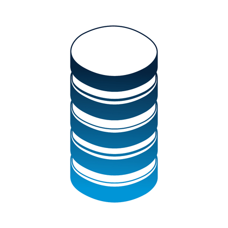 data center disks icon vector illustration design