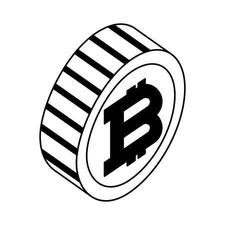 bitcoin virtual isometric icon
