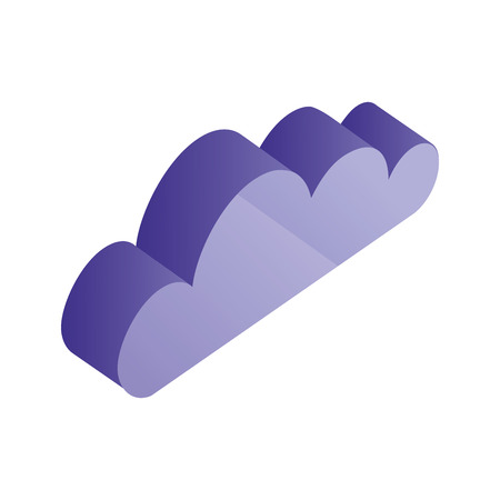 cloud isometric weather climate icon vector illustration