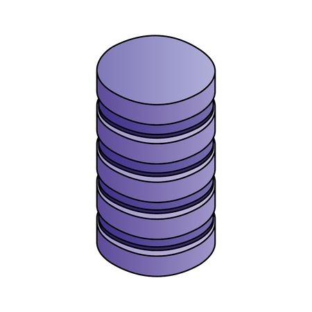 database center server storage technology vector illustration Stock Vector - 111663109