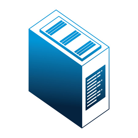 server data center isometric icon vector illustration design Stock Vector - 111663156