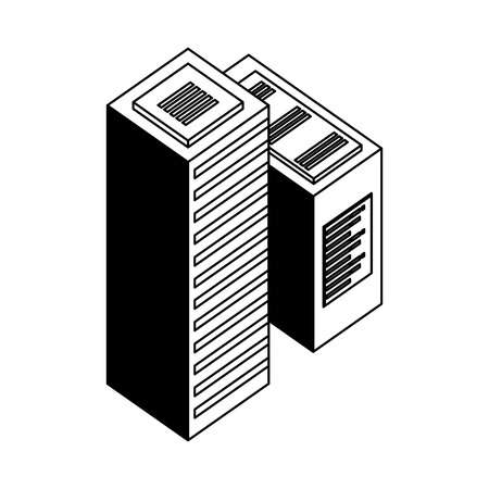 servers data center isometric icon vector illustration design Ilustração