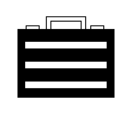 business briefcase object accessory icon vector illustration  イラスト・ベクター素材