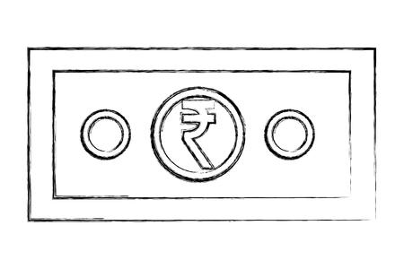 indian rupee banknote money cash vector illustration
