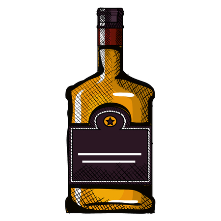 whiskey bottle drink icon vector illustration design