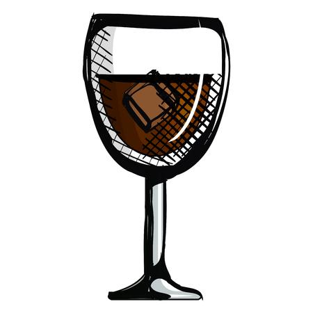 wine cup glass icon vector illustration design Illustration