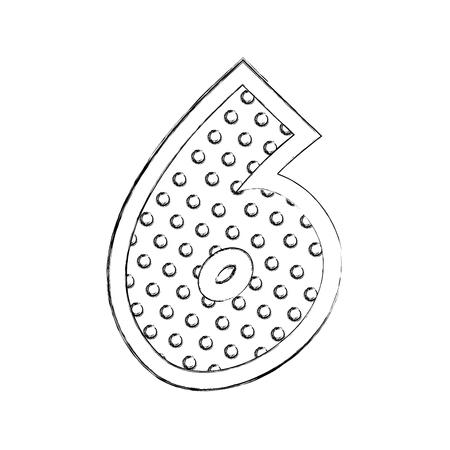 number six comic style vector illustration design Иллюстрация
