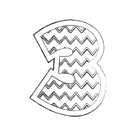 number three comic style vector illustration design Иллюстрация
