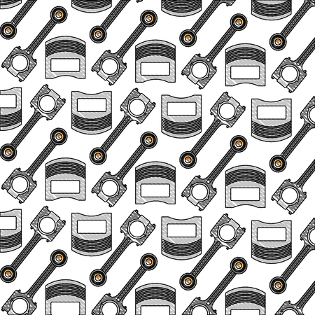 automotive industry pistons parts car pattern vector illustration