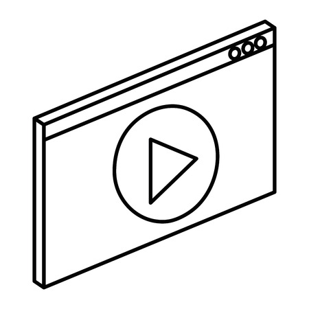 media player interface icon vector illustration design Ilustrace