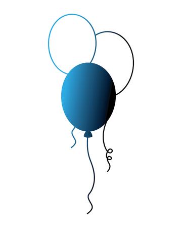 balloons decoration ornament party celebration vector illustration neon
