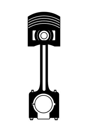 auto part service repair piston industry automotive vector illustration black and white