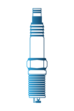 automotive spare part spark plug engine vector illustration neon