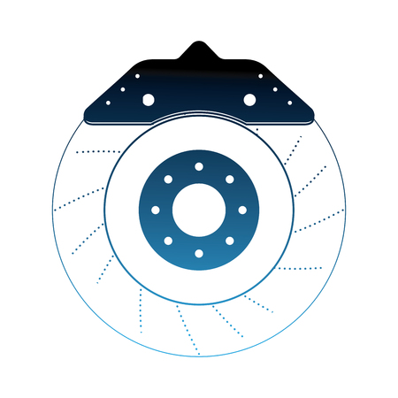 brake disc auto spare part mechanic system vector illustration neon 일러스트