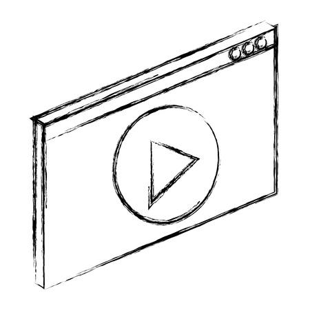 media player interface icon vector illustration design  イラスト・ベクター素材