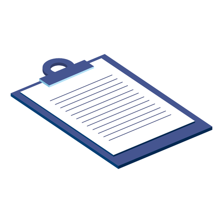 checklist clipboard isolated icon vector illustration design Ilustração