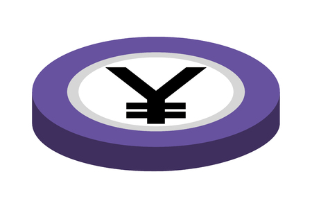 coin yen isolated icon vector illustration design