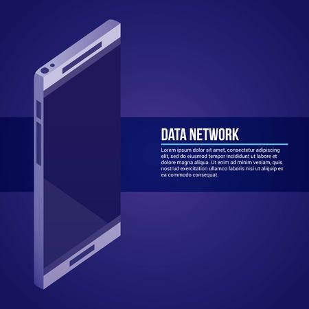 data network smarpthone technology background vector illustration