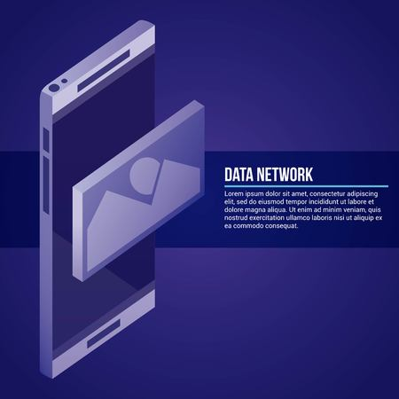 data network smartphone technology photo vector illustration