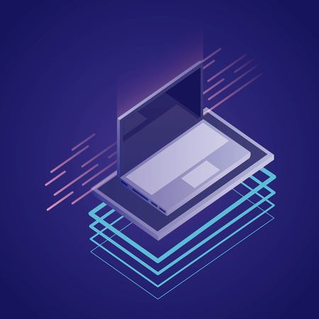 data network computer base platforms vector illustration