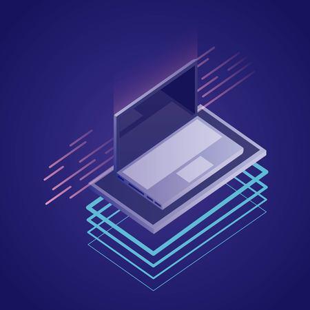 data network computer base platforms vector illustration