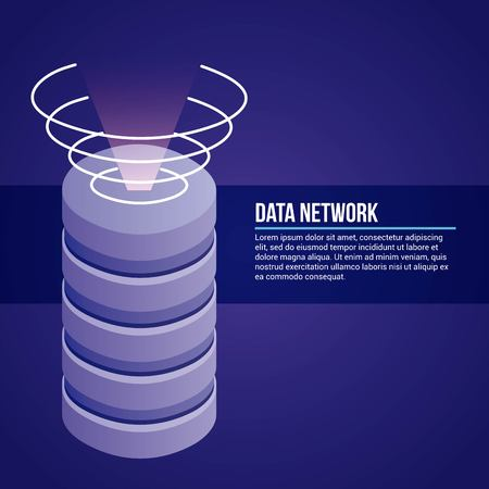 data network tower signal antenna vector illustration Illustration