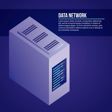 data network tower computer signs vector illustration