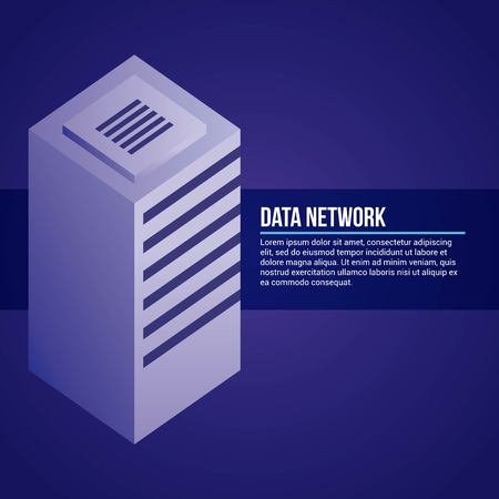 data network tower base sign vector illustration Illustration
