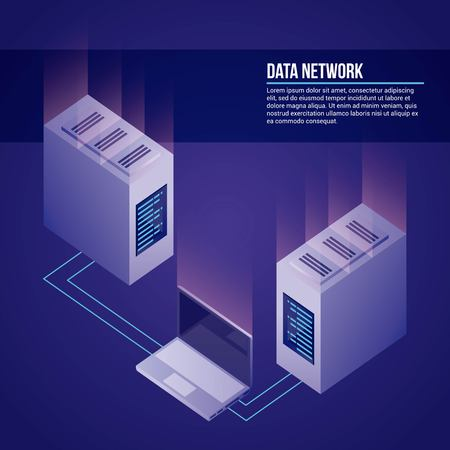 data network towers computer base vector illustration