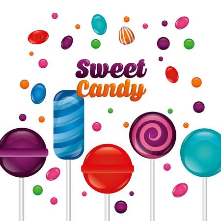 sweet candy palette mint bombom flavors alminds vector illustration
