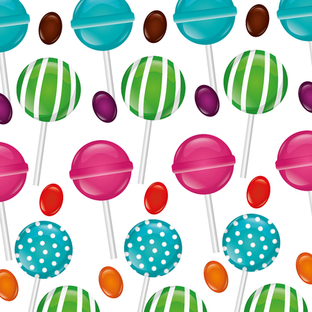 sweet candy watermelon bombom alminds vector illustration