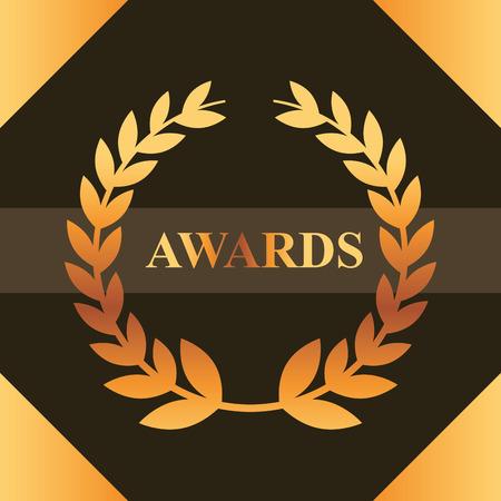 movie awards sign ribbon win frame figure vector illustration Ilustracja