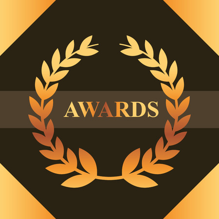 movie awards sign ribbon win frame figure vector illustration Illustration