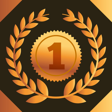 movie awards currency number one vector illustration 向量圖像