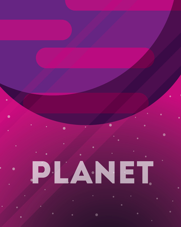 space planet color stars background vector illustration