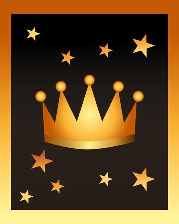 movie awards crown stars backgroud vector illustration