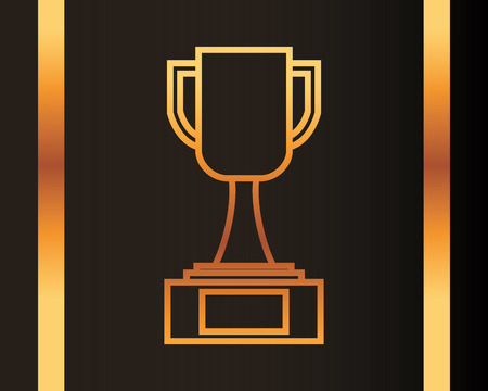 movie awards trophy winner vector illustration