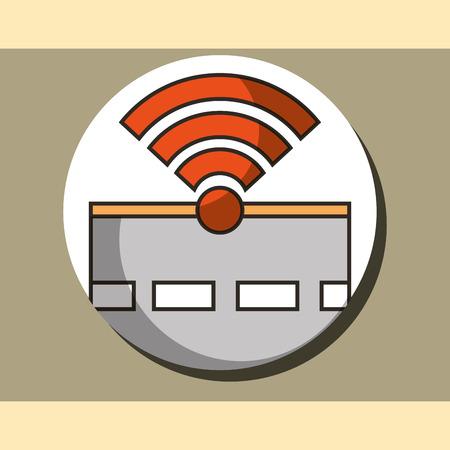 autonomous car street signal location vector illustration Illustration