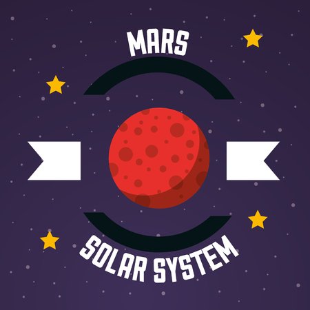 space solar system mars stars background vector illustration Illustration