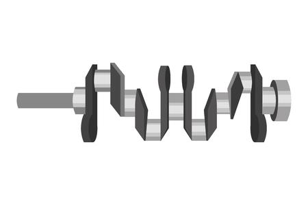 crankshaft spare part industry automotive vector illustration