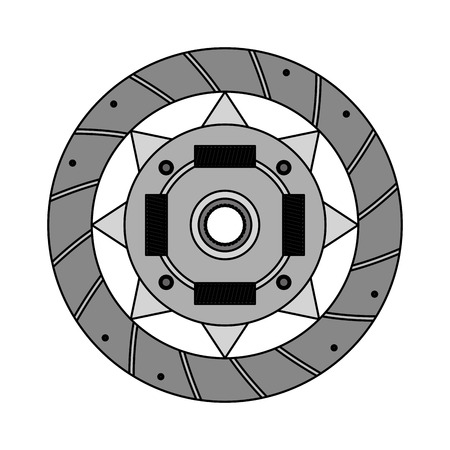 clutch plate auto spare part mechanic system vector illustration Illusztráció