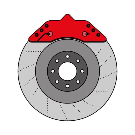 brake disc auto spare part mechanic system vector illustration